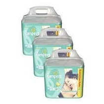 Fralda Pampers Total Confort M Com 222 Tiras-kit 03 Pacotes