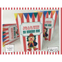 Souvenir Evento Caja Cumple Personalizada Circo Carpa Payazo