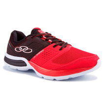 Zapatillas Olympikus Modelo Training Cushy 2 Negro/rojo