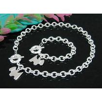 Collar-perro Y Pulsera Igual-marca Tiffany-plata .925