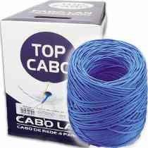 Cabo De Rede Top Cabo Cat5e Azul Caixa 305mts!!!!