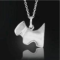 Cadena Y Dije Perro-marca Tiffany- Plata.925- Flete Gratis
