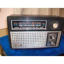 Antiguo Radio Marca Tec Es A Pilas Y Corriente, Funcionando