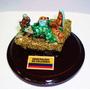 Pesebre De Piedra Celular Pequeño Con Murralla De Esmeralda