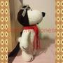Snoopy Aviador De Lana Tejido A Mano Amigurumi