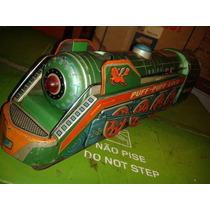 Brinquedo Antigo Lata Trem Japan Pilha