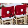 Kit Com 6 Capa Para Encosto De Cadeiras Natalinos