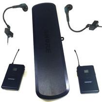 Transmissor Duplo Sem Fio Shure Pg288 / Pg14 Com 98 Hc S/fio