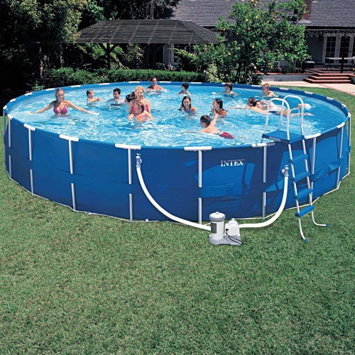Piscina estrutural intex litros completa gigante for Ideas para piscinas intex