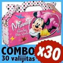Minnie Cajita Valijita Bolsita Souvenir Combo X 30
