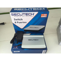Switch 8 Puertos Secutech 300mbps Modelo Ss-11s