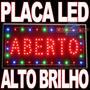 Placa Led Luminoso Comunicação Visual Para Casa Restaurante