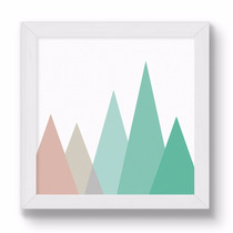 Cuadrito Chato Blanco 20x20 - Mountain In Colors
