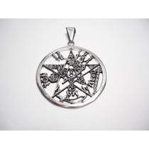 Dije Tetragrammaton Dije Pentagrama En Plata Ley.925 Jumbo