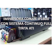 Impresora Canon Ip1800 Con Sistema Continuo Full Tinta Ati