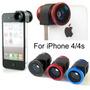 Kit Lentes P/ Iphone 4 . Kit 3 Em 1:fisheye,macro E Wide