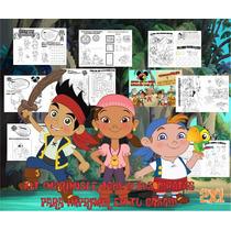Kit Imprimible Libritos Para Pintar Jake Y Los Piratas 2x1