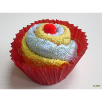 Cupcake Panquecito Recuerdo De Toalla 10 Piezas Cumpleaños