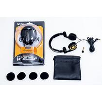Fone Mr. Mix Golden Original Retorno De Palco Headphone Dj