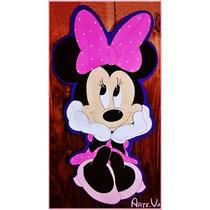 Figuras De Minnie Y Mickey En Goma Eva De 80cm