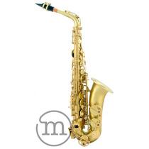 Saxofone Milano Alto Dourado Fosco Vintage Envelhecido Eb Mi
