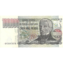 Billete 100.000 Pesos Ley Bottero 2504aaño 1980 Sin Circular