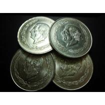 Hidalgo Cinco Pesos De Plata Ley 0.720 Fechas 1951 Al 53