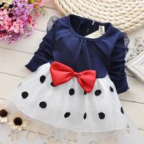 Vestido Para Festa - Criança - Vestido De Bolinhas - Lindo