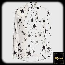 Camisa Chifon Estrela Grande Preta Branca Imp.pronta Entrega
