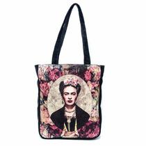 Bolsa Femina Frida Kahlo Alça Tira Colo Ombro Camurça