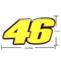 Adesivo Resinado The Doctor Valentino Rossi 46 13,00 X 7,30