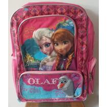 Bolso Morral Escolar De Frozen Original De Disney