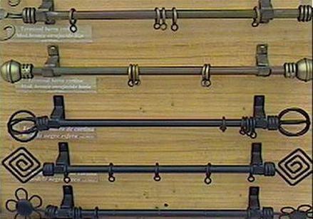 Barras de fierro y rieles de aluminio mantenci n store - Barra de madera para cortinas ...