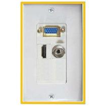 5 Placas De Pared Con Conectores Vga Hdmi De 3.5mm