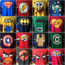 10 Camisetas Personagens Heróis Games Comics Revenda Atacado