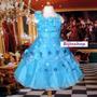 Vestido Infantil Festa/ Princesa/dama Flores Pink,azul,lilas