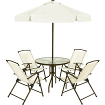 Conjunto 4 Cadeira Ombrelone Mesa Miami Praia Piscina 85000