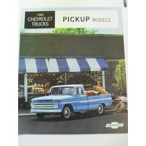 Catalogo De Venta De Chevrolet Camionetas Pickup 1965