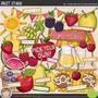 Kit Imprimible Frutas Y Verduras 4 Imagenes Clipart