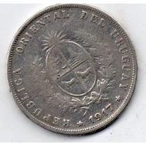 50 Centavos De Prata De 1917-12,4 Gramas