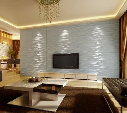 Papel 3d para paredes modelo waves 3decowall bs - Revestimientos de madera paredes interiores ...