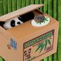 Alcancia Oso Panda Con Movimiento Come Monedas