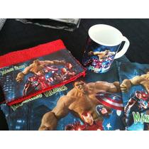 Set De Jardin Personalizado Con Taza Vengadores Spiderman