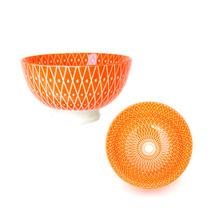 Bowl Geo Naranja 11 Cm Deco Cocina Morph