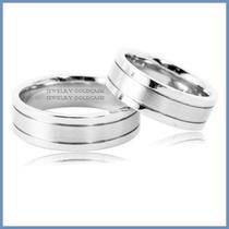 Argollas De Matrimonio Mod. Aura En Oro Blanco 10k Solido