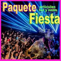 Paquete Fiesta Articulos Luz Led Y Neon Boda Xvaños Antro Dj