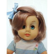 Boneca Antiga De Plástico Boolha - 50 Cm - Anos 70 - Linda!