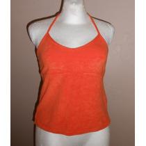 Express!! Moderna Blusa Naranja, Tela Tipo Toalla, Talla M