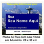 Placa De Rua Com Seu Nome Personalizada Em Alumínio