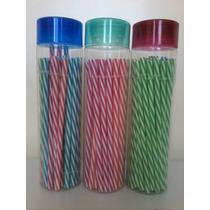 6 Piezas Popotes De Colores De Plastico Para Masons Jars